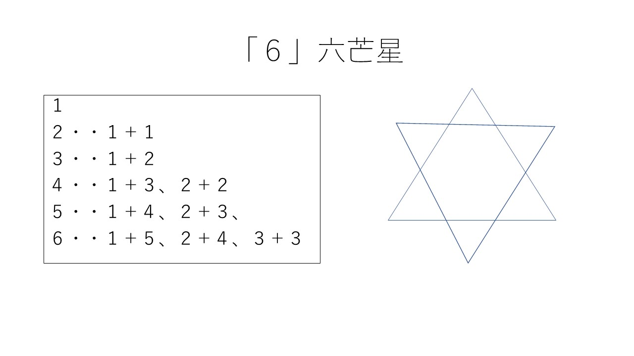 6」六芒星